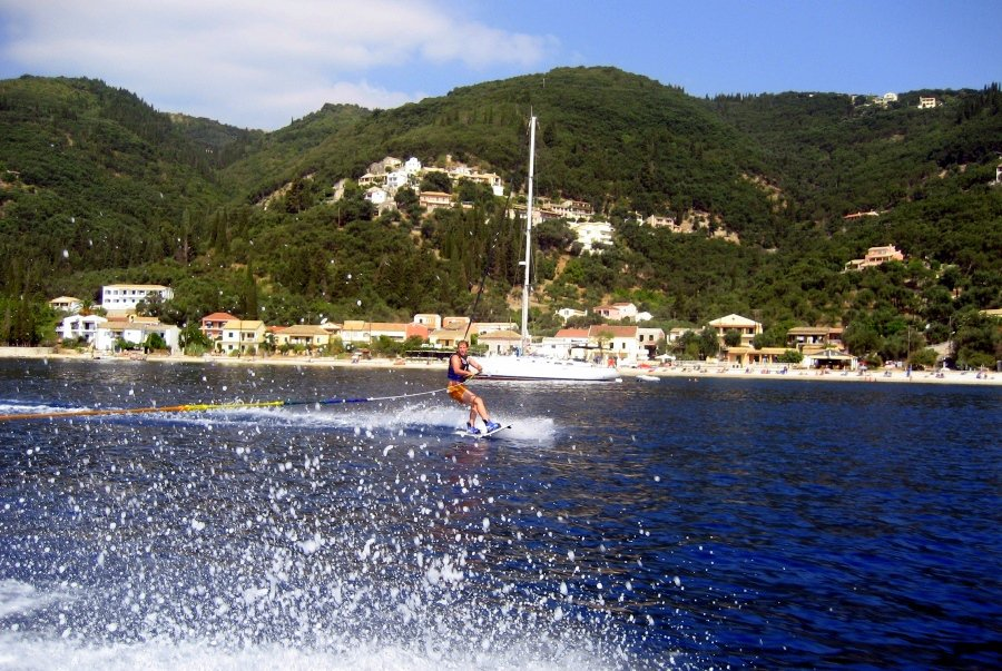 Waterskiing at Kalami