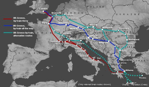 Trains to Greece