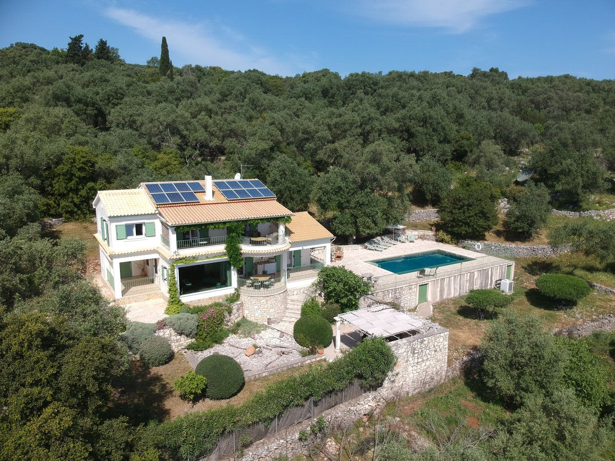 VILLA LOUKIA from the air